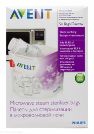 Lucan Pharmacy  AVENT Microwave Steam Steriliser Bags (5 Pack)