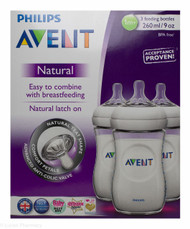 Lucan Pharmacy  AVENT Natural Feeding Bottles 260ml - 1 Mnth+ (3 Pack)