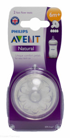 Lucan Pharmacy  AVENT Natural Teats 4 Hole Fast Flow 6 Mnth+ (2 Pack)
