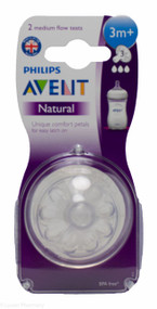 Lucan Pharmacy   AVENT Natural Teats 3 Hole Medium Flow 3 Mnth+ (2 Pack)