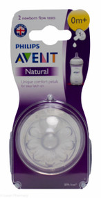 Lucan Pharmacy  AVENT Natural Teats 1 Hole Newborn Flow 0 Mnth+ (2 Pack)