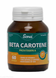 Sona® Beta Carotene Provitamin A – 60 Capsules