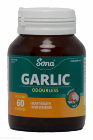 Sona® Odourless Garlic – 60 Capsules