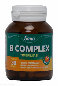 Sona® B Complex Time Release – 30 Tablets