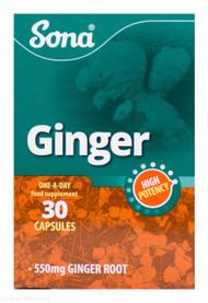 Sona® High Potency Ginger – 30 Capsules