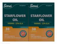 Sona® Starflower Oil 1000mg – 22% GLA – 30 Capsules