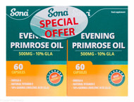 Sona® Evening Primrose Oil 500mg  10% GLA – 120 Capsules