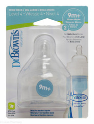 Lucan Pharmacy Dr. Brown's Natural Flow® Wide Neck Silicone Teats Level 4 (9m+) 2 Pack