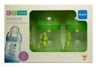 MAM Anti-Colic Bottles 0+ months 160ml - 3 Pack  (Neutral)