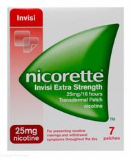 Nicorette® Invisi Extra Strength 25mg/16hr Trans Dermal Patch - 7 Patches #P