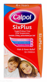 Calpol® SixPlus Sugar/Colour Free Oral Suspension Strawberry Flavour - 60ml #P