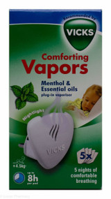 Vicks® Comforting Vapors Menthol & Essential Oils Plug-in Vaporiser