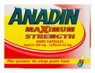 ANADIN™ Maximum Strength Hard Capsules - 12 Capsules #P