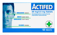 Actifed® 60 mg/2.5 mg Tablets – 12 Tablets #P