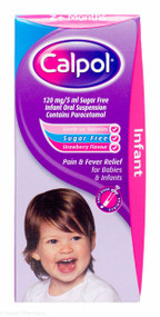 Calpol® 2Months+ Sugar Free Oral Suspension Strawberry Flavour - 140ml #P