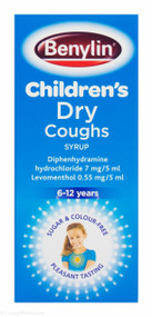 Benylin® Children's Dry Cough Syrup 6-12 Years – 125ml #P