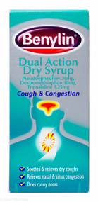 Benylin® Dual Action Dry Syrup Cough & Congestion – 100ml #P