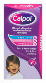 Calpol® 2Months+ Sugar Free Oral Suspension Strawberry Flavour - 60ml #P