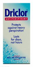 Driclor® Antiperspirant Roll On Applicator  -  20ml