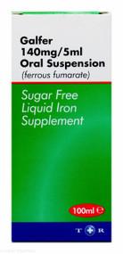 Galfer Liquid Iron Supplement 140mg/5ml Oral Suspension - 100ml #P
