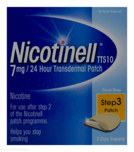 Nicotinell® TTS10 7mg 24 Hour Step 3 Transdermal Patch – 7 Day Supply #P