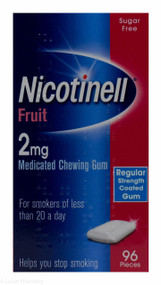 Nicotinell® Fruit Flavour 2mg Medicated Chewing Gum – 96 Pieces #P