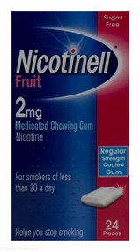 Nicotinell® Fruit Flavour 2mg Medicated Chewing Gum – 24 Pieces #P