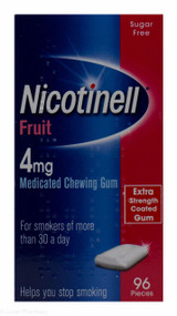 Nicotinell® Fruit Flavour 4mg Medicated Chewing Gum – 96 Pieces #P