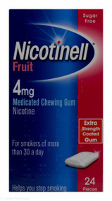 Nicotinell® Fruit Flavour 4mg Medicated Chewing Gum – 24 Pieces #P