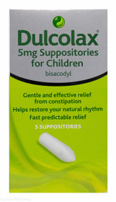 Dulcolax® 5mg Suppositories For Children – 5 Pack  #P