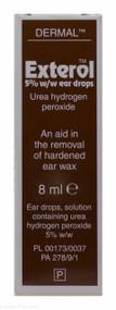 Exterol™ 5% w/w Urea Hydrogen Peroxide Ear Drops – 8ml #P