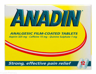 ANADIN™ Analgesic Film-Coated Tablets – 12 Tablets #P