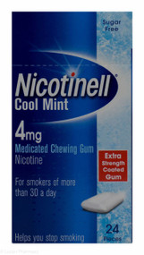 Nicotinell® Cool Mint 4mg Medicated Chewing Gum – 24 Pieces #P