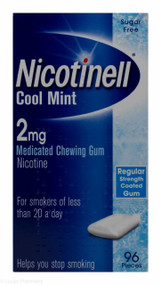 Nicotinell® Cool Mint 2mg Medicated Chewing Gum – 96 Pieces #P