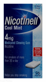 Nicotinell® Cool Mint 4mg Medicated Chewing Gum – 96 Pieces #P