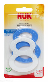 Lucan Pharmacy NUK® Figure 8 Teething Rings (2 Pack) - 3-12mths