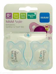 Lucan Pharmacy  MAM Style Soothers (2 Pack) - 0mths+ (Blue)