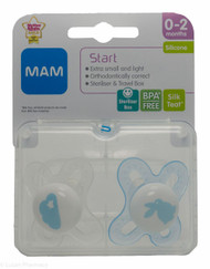 MAM Start Soothers (2 Pack) - 0-2mths