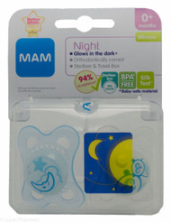 Lucan Pharmacy  MAM Night Soothers (2 Pack) - 0mth+