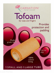 CARNATION® Footcare Toe Foam - 1 Small and 1 Large Tube