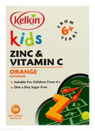 Lucan Pharmacy Kelkin® Kids Zinc & Vitamin C Orange Flavour - 30 Soft Chewy Pastilles