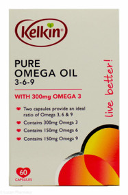 Lucan Pharmacy Kelkin® Pure Omega Oil 3-6-9 - 60 Capsules