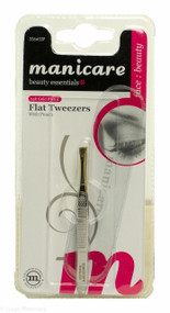 Manicare 24K Gold Plated Flat Tweezers With Pouch