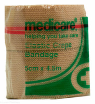 Lucan Pharmacy Medicare+® Elastic Crepe Bandage - 5cm x 4.5m
