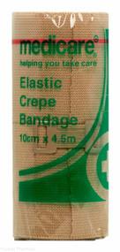 Lucan Pharmacy Medicare+® Elastic Crepe Bandage - 10cm x 4.5m