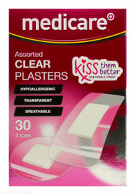 Lucan Pharmacy Medicare+® Assorted Clear Plasters In 4 Sizes - 30 Pack