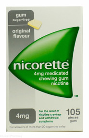 Nicorette® 4mg Medicated Chewing Gum  - Original (105 Pieces)