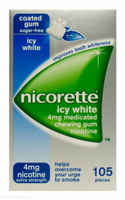 Nicorette® 4mg Medicated Chewing Gum  - Icy White (105 Pieces)