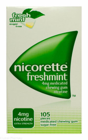Nicorette® 4mg Medicated Chewing Gum  - Freshmint (105 Pieces)