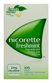 Nicorette® 2mg Medicated Chewing Gum  - Freshmint (105 Pieces)